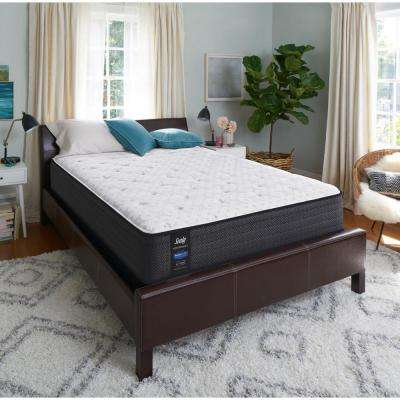 Response Performance 13 in. California King Plush Faux Euro Top Mattress Set with 5 in. Low Profile Foundation