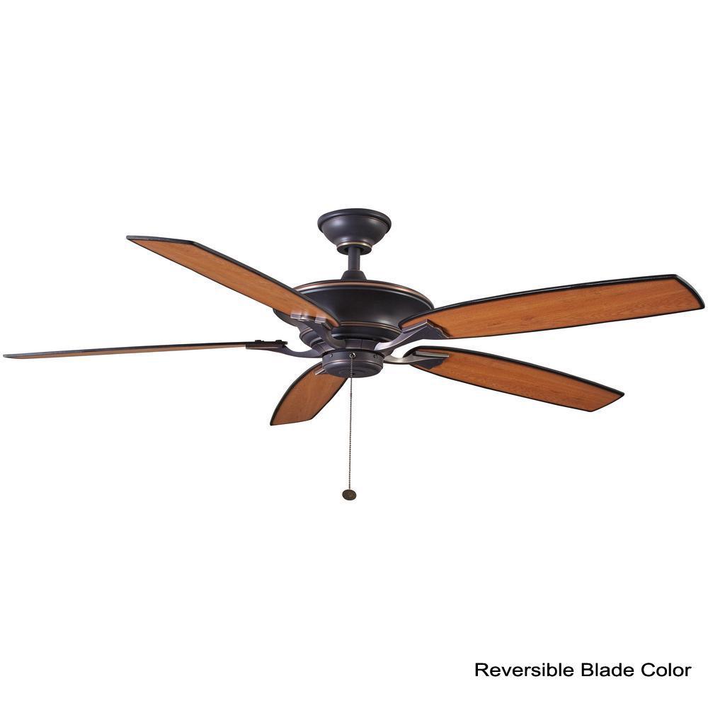 Hampton Bay Ashburton 60 In Indoor Tarnished Bronze Ceiling Fan