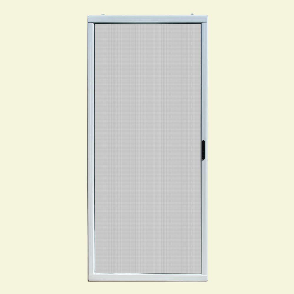 Screen tight 32 in x 80 in charlestowne solid vinyl - 30 x 80 exterior door with pet door ...