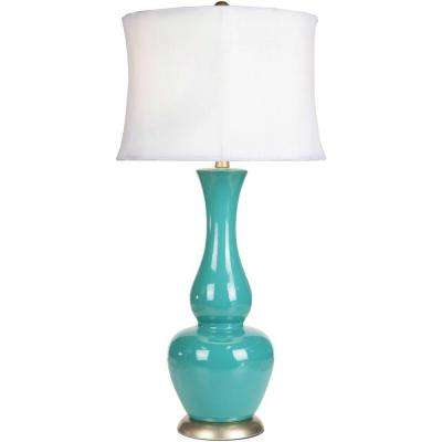 Cholet 30 in. Turquoise Table Lamp