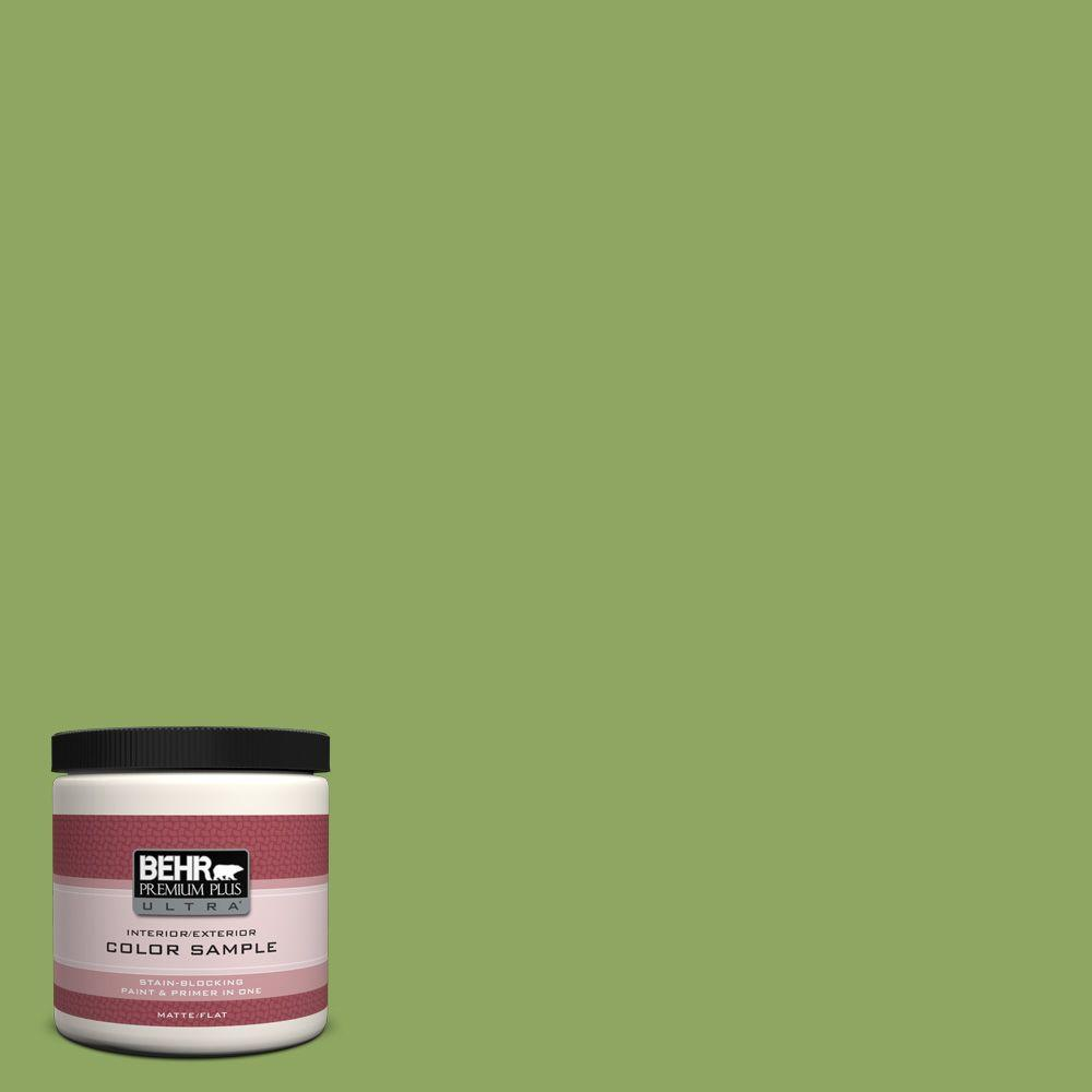 8 oz. #PPU10-4 New Bamboo Matte Interior/Exterior Paint and Primer in