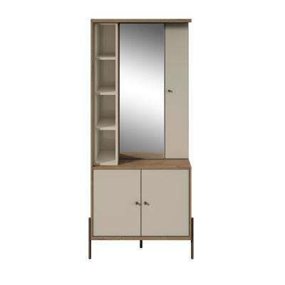 Joy Off White Vanity Jewelry Armoire with Mirror