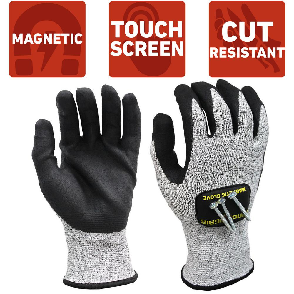 MagnoGrip Medium Cut Resistant Magnetic Gloves with Touchscreen Technology