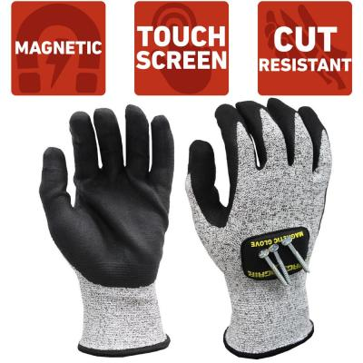 Medium Cut Resistant Magnetic Gloves with Touchscreen Technology