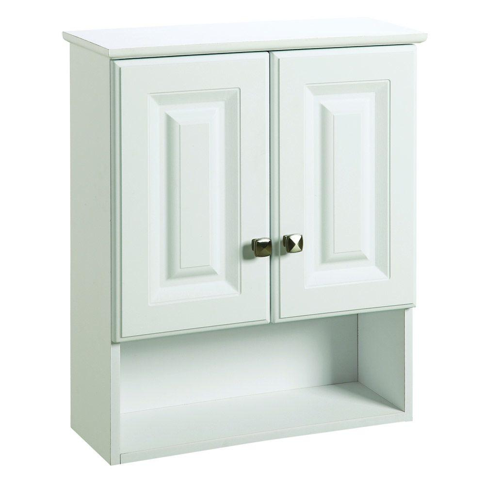 Foremost Naples 26-1/2 In. W X 32-3/4 In. H X 8 In. D Bathroom Storage Wall Cabinet In White