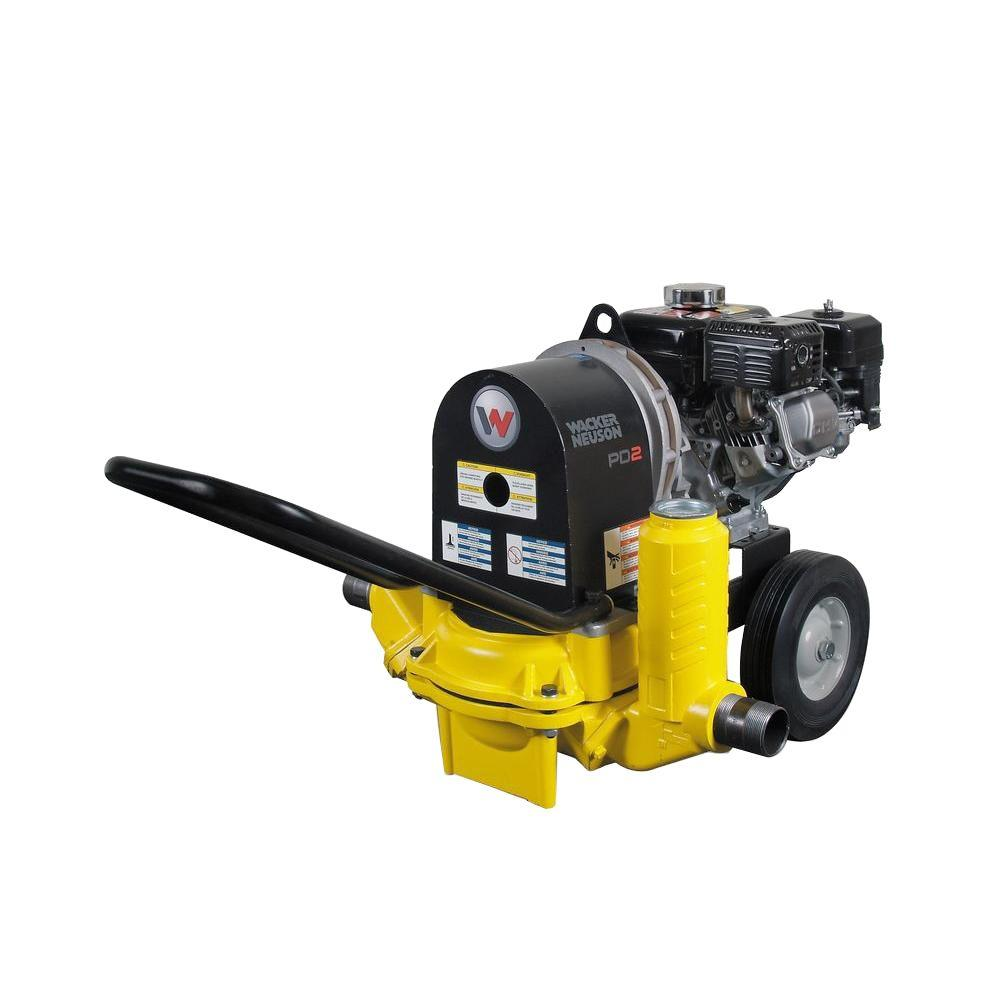 Wacker 3 5 HP 2 in  Diaphragm Pump with Honda Engine