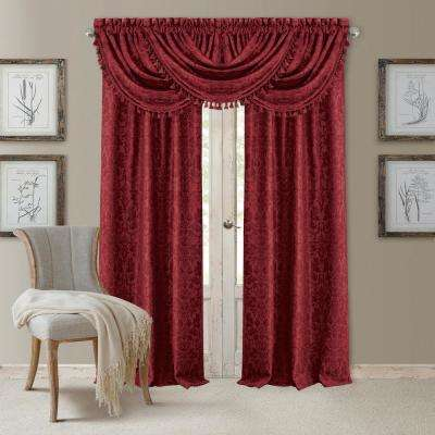 Blackout Antonia Rouge Blackout Rod Pocket Window Panel - 52 in. W x 84 in. L