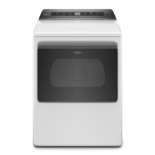 7.4 cu. ft. White Front Load Electric Dryer with AccuDry System
