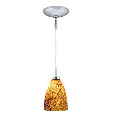 Low Voltage Quick Adapt 4 in. x 105-1/4 in. Mocha Pendant and Canopy Kit