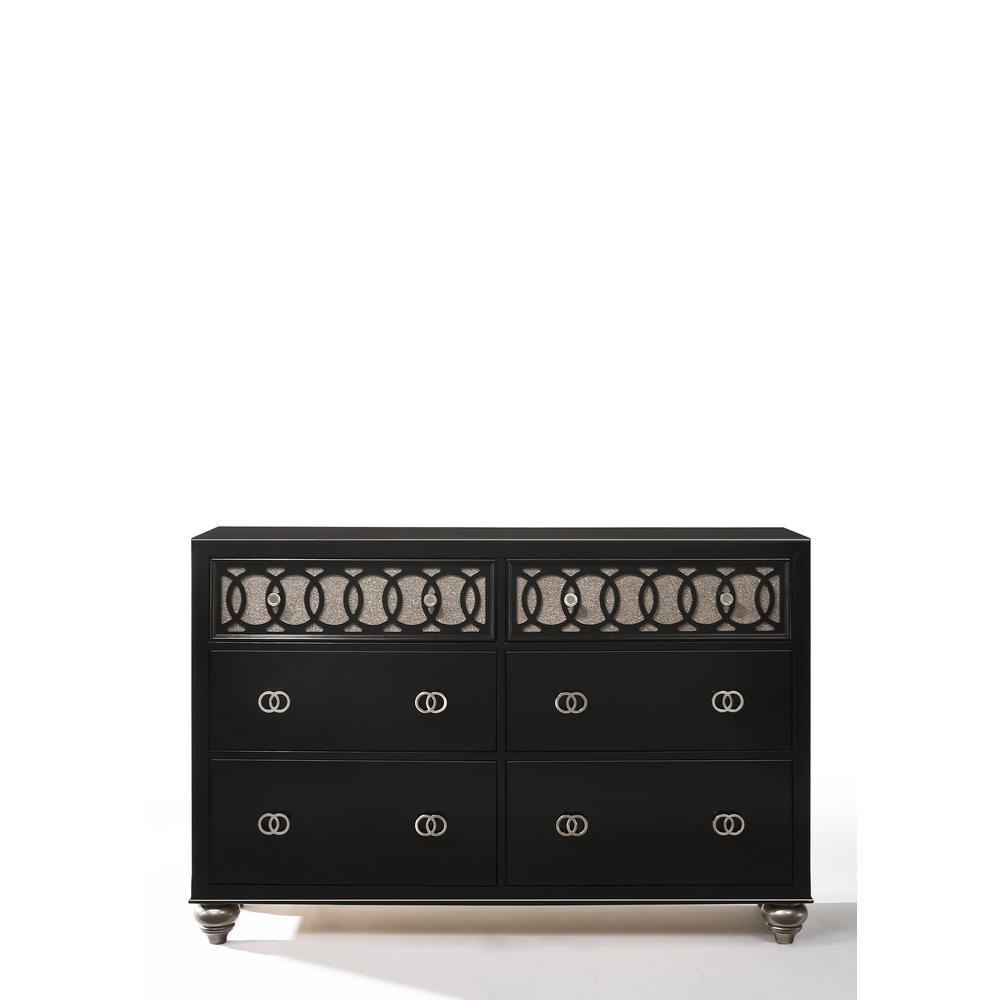 Ulrik Copper Shimmery and Black Dresser