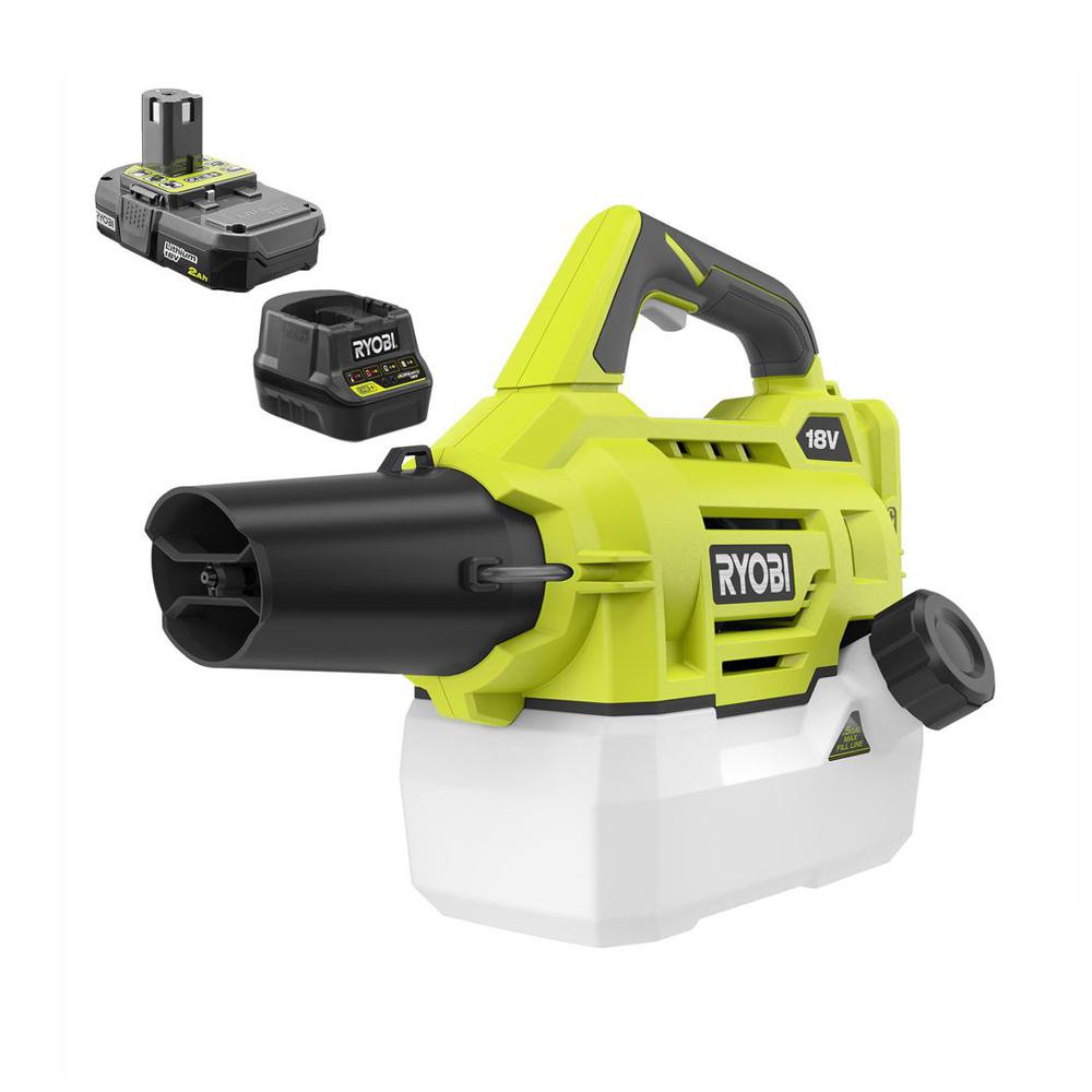 RYOBI RYOBI ONE+ 18-Volt Lithium-Ion Cordless Fogger/Mister with 2.0 Ah Battery and Charger Included