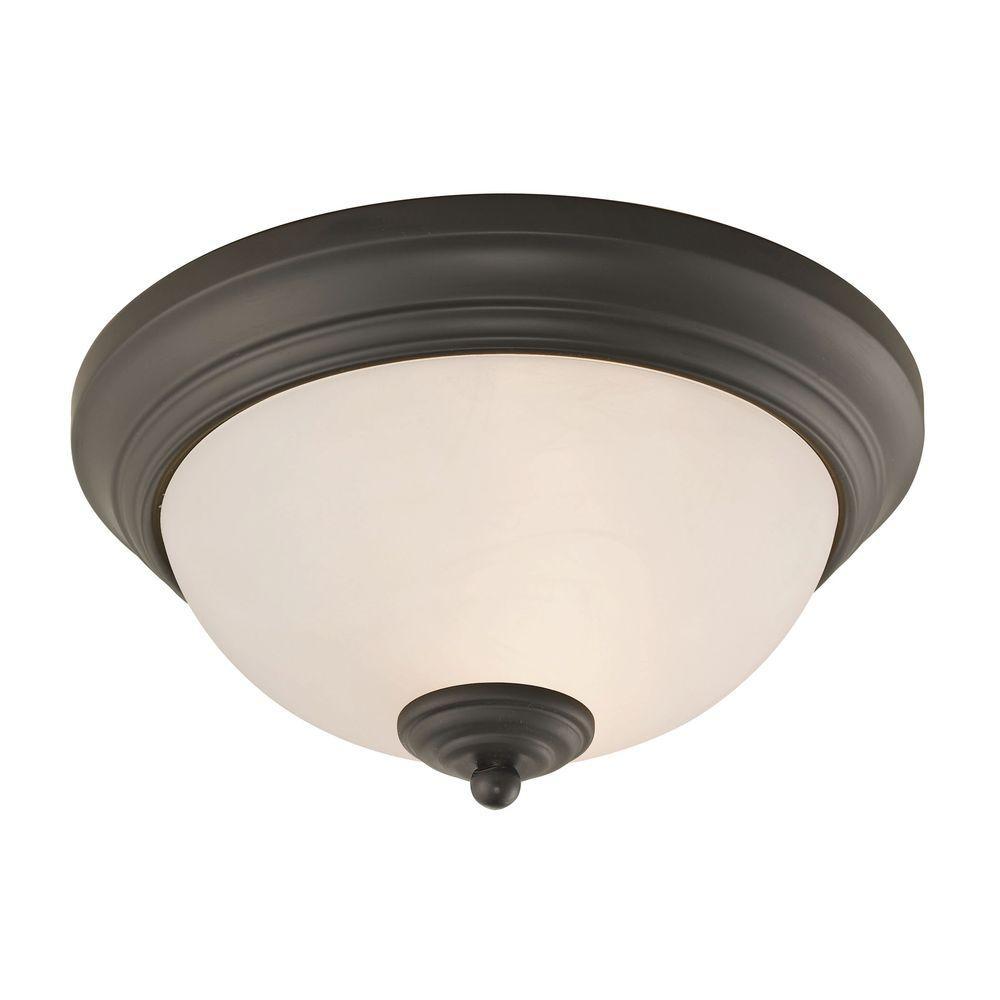 Huntington 2-Light Oil-Rubbed Bronze Ceiling Lamp