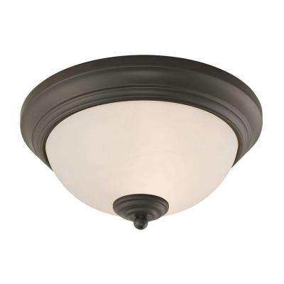 Huntington 2-Light Oil-Rubbed Bronze Ceiling Lamp