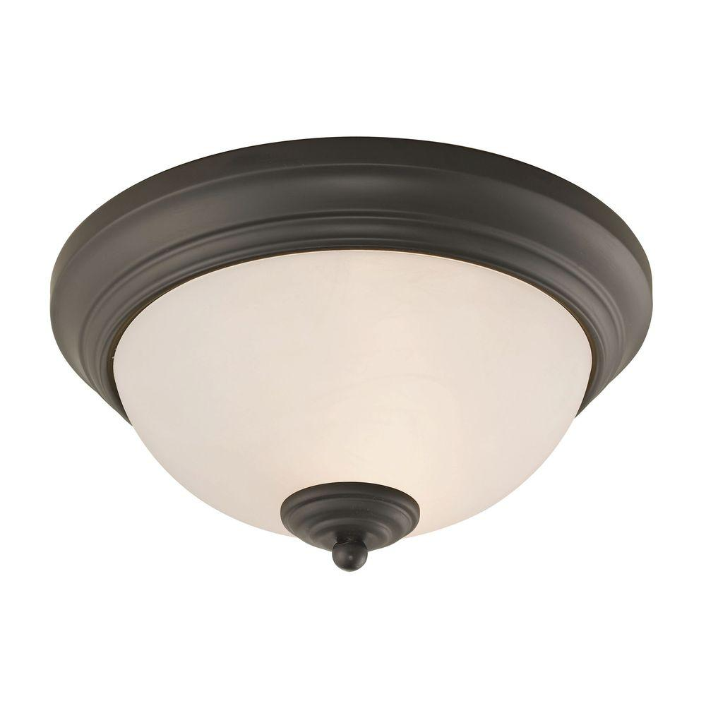 Titan Lighting Huntington 2Light OilRubbed Bronze Ceiling LampTN