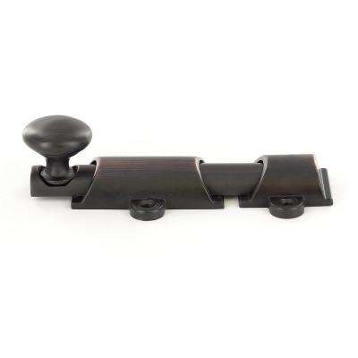 3-15/16 in. Brushed Oil-Rubbed Bronze Surface Bolt Kit
