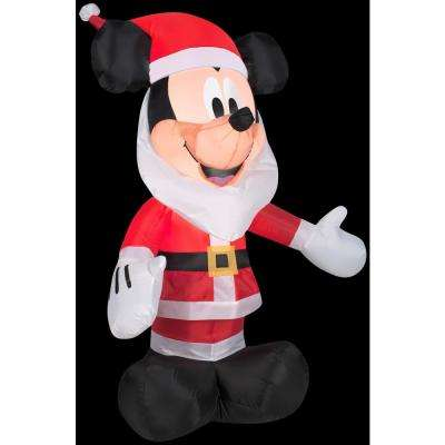 2.5 ft. W x in. 3.5 ft. H Mickey Mouse with Santa Beard