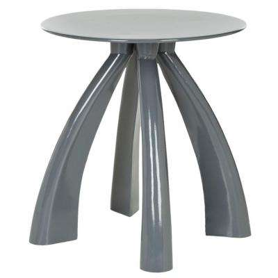 Iridium Warm Gray End Table