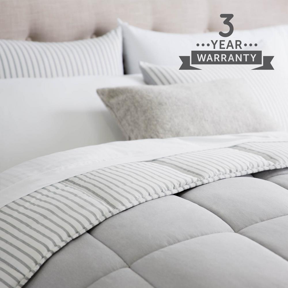 Brookside 3 Piece Coastal Gray, Bedding Oversized Comforter Sets