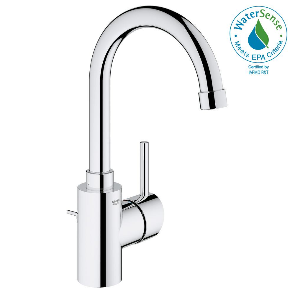 GROHE Concetto Single Hole Single-Handle High-Arc Bathroom Faucet in ...