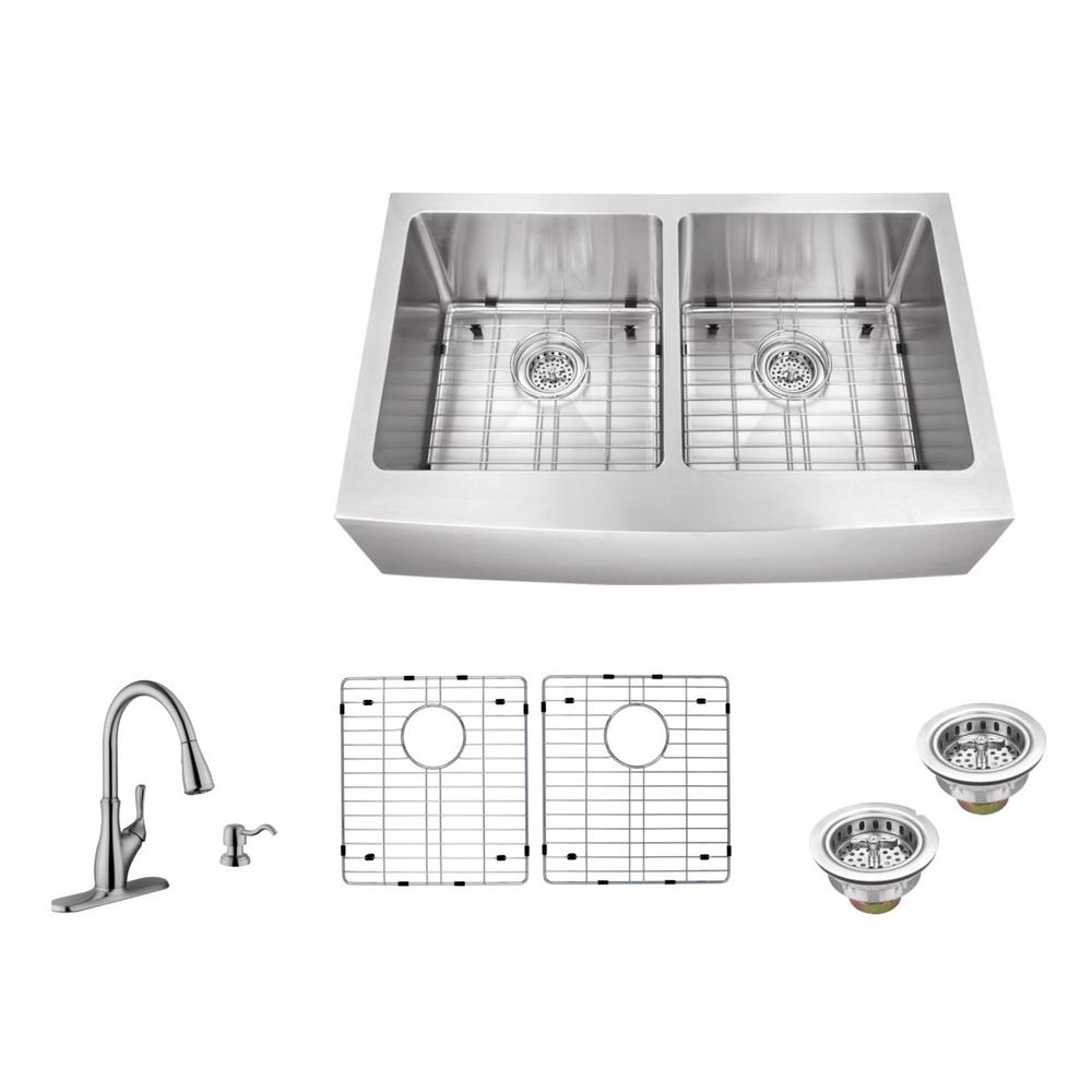 kitchen sink companies ipt sink company apron front 33 in 16 stainless 2633