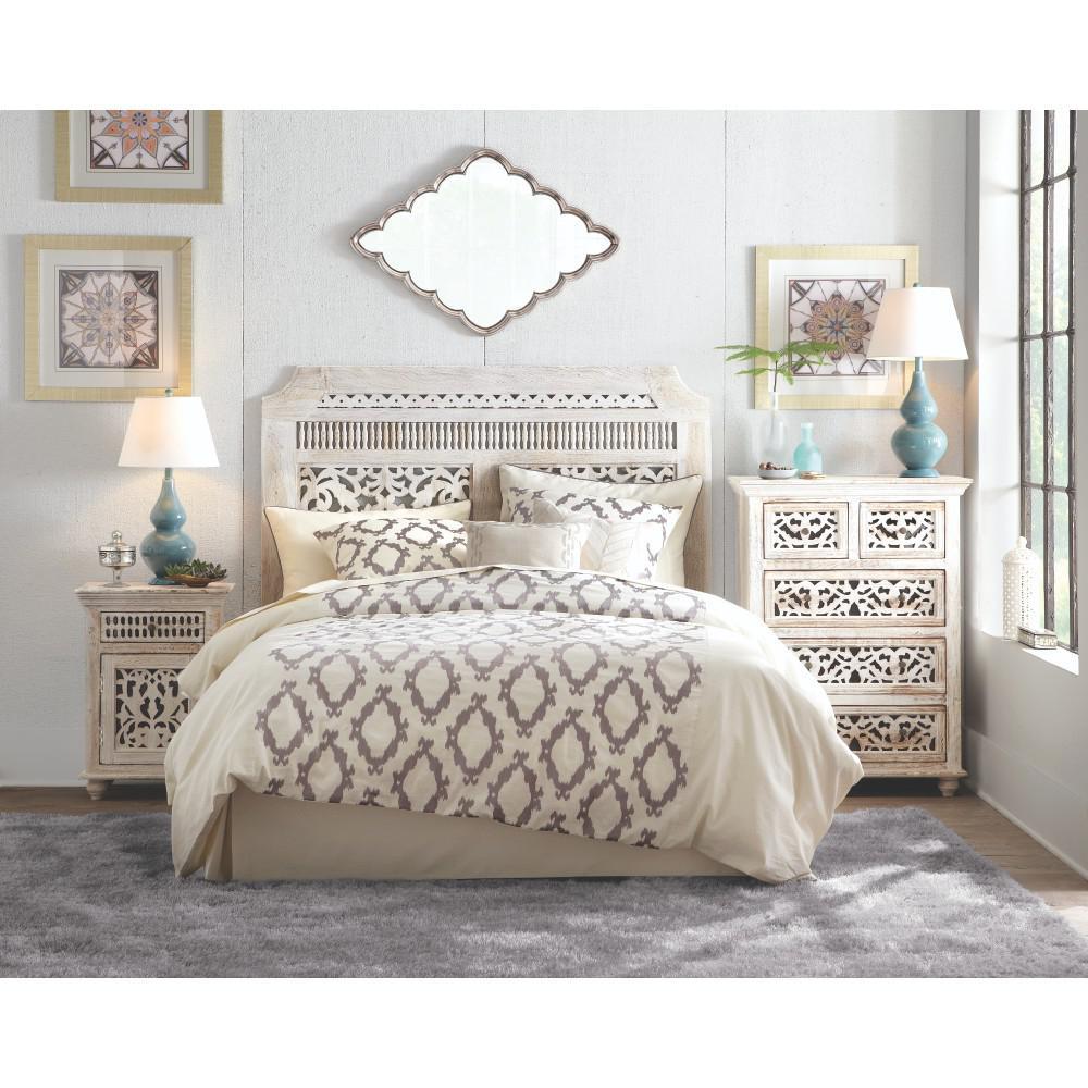 Home Decorators Collection Maharaja 1 Drawer Sandblast White Nightstand 1472500820 The Home Depot