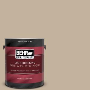 Behr Ultra 1 Gal Bnc 03 Essential Brown Flat Exterior Paint And Primer In One 485401 The Home Depot