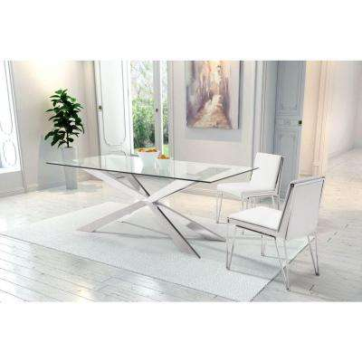 Kylo White Leatherette Dining Chair (Set of 2)