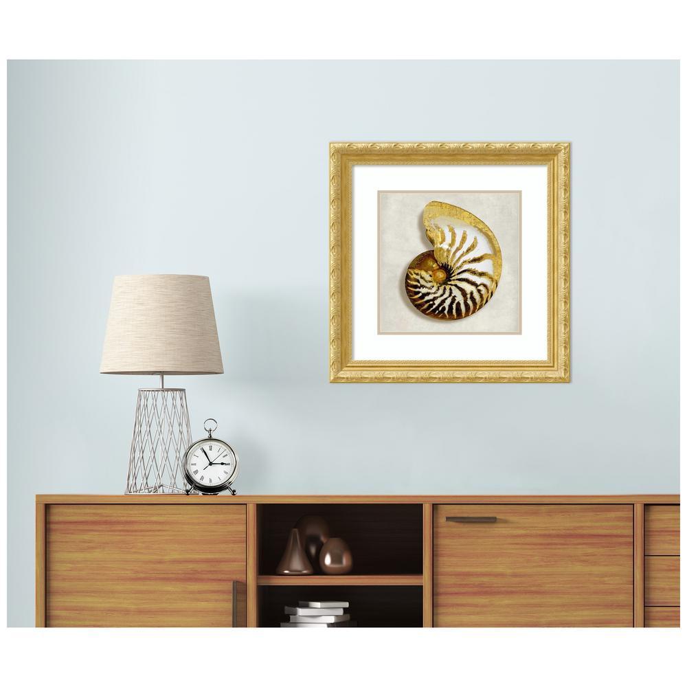 Golden Ocean Gems on Ivory II by Caroline Kelly Framed Print Wall Art