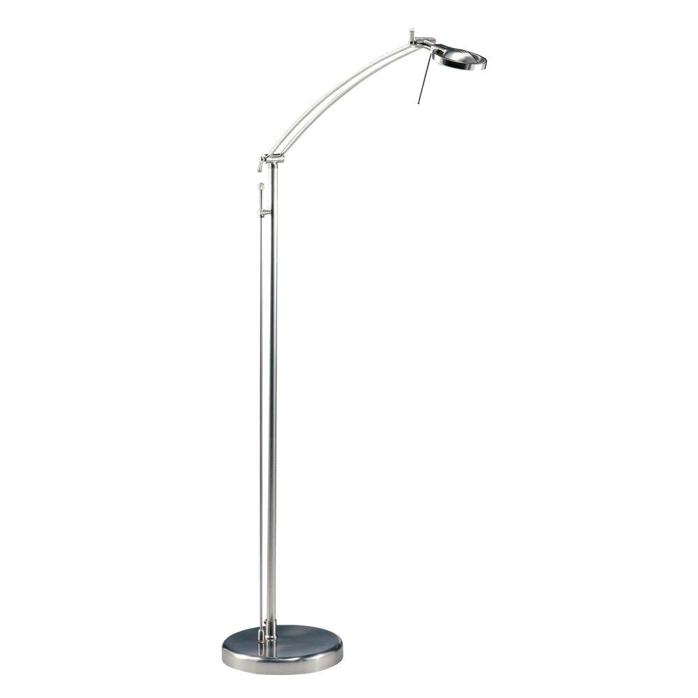 Satin Nickel Halogen Floor Lamp