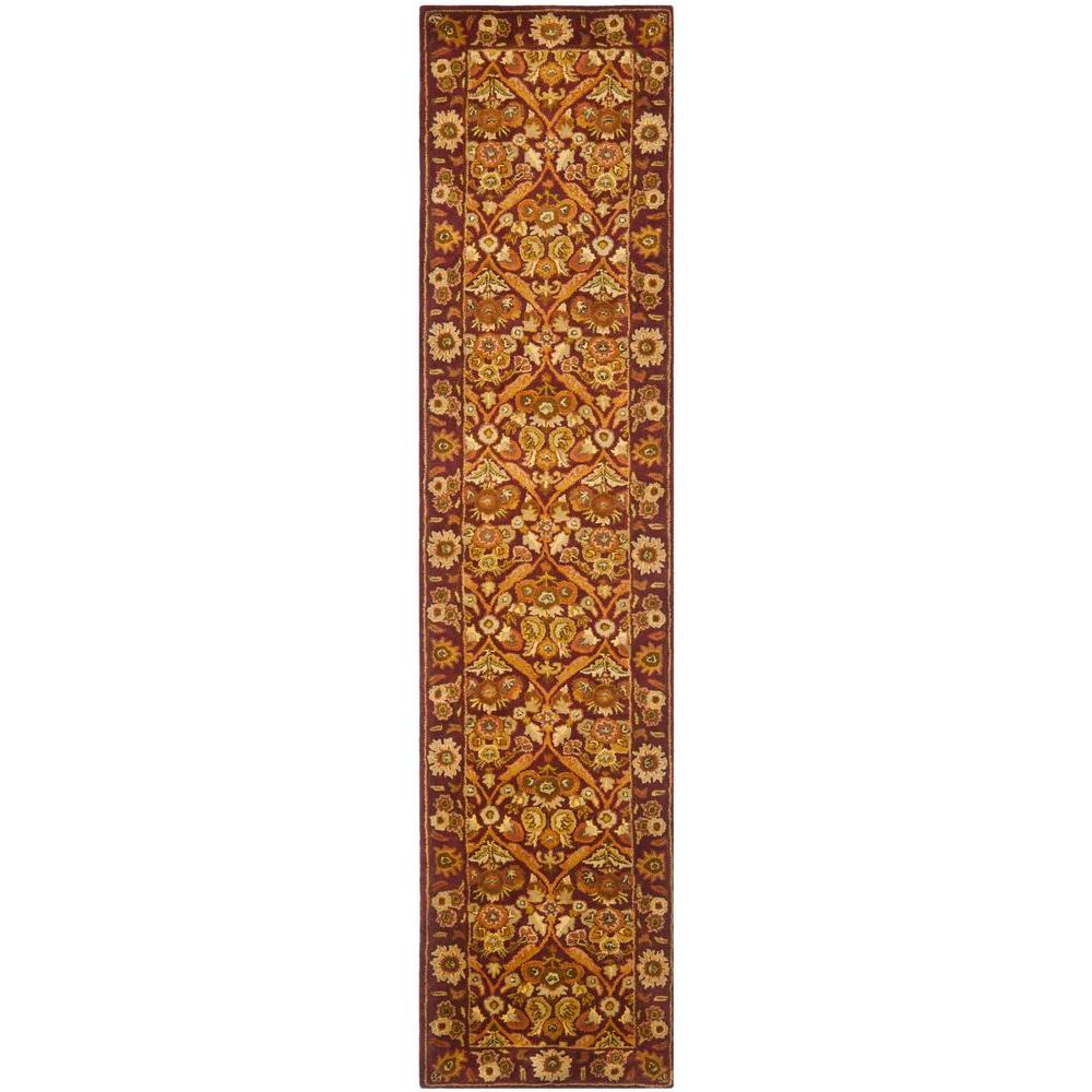 Safavieh Antiquity Wine Gold 2 Ft 3 In X 12 Ft Runner