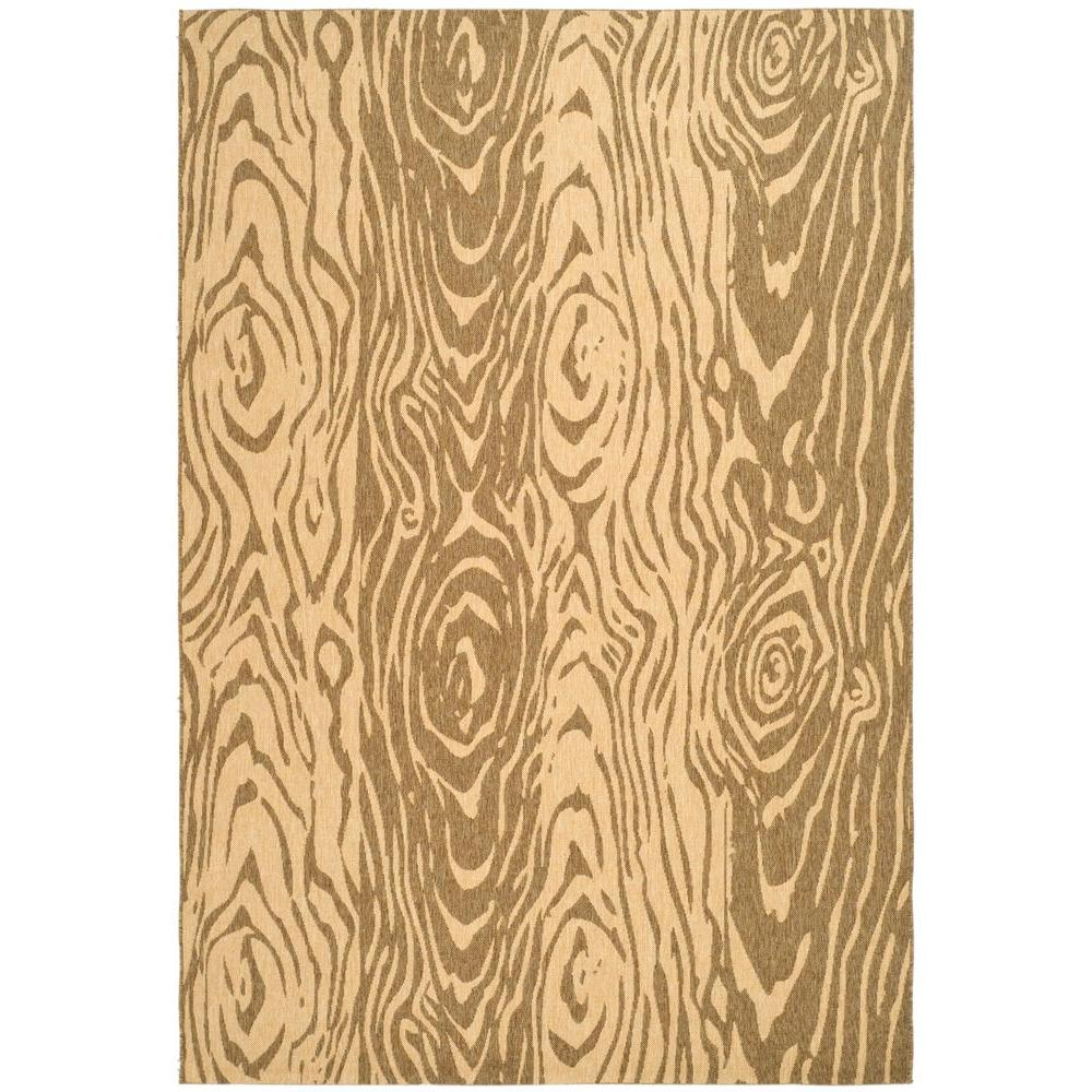 Martha Stewart Living Layered Faux Bois Coffee/Sand 6 ft. 7 in. x 9 ft. 6 in. Area Rug