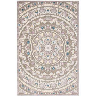 Paradise Gray/Light Gray 5 ft. 1 in. x 7 ft. 6 in. Area Rug