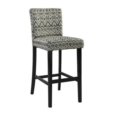 Morocco 24 in. Gray Cushioned Bar Stool