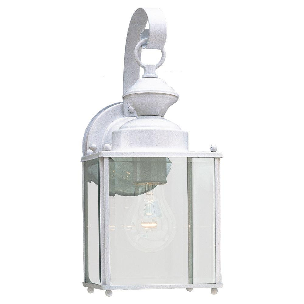 Sea Gull Lighting Jamestowne 1-Light White Outdoor Wall Fixture
