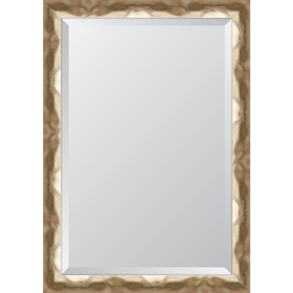 melissa van hise 30 in x 42 in framed wide contemporary soft gold mirror mir3102436 the home. Black Bedroom Furniture Sets. Home Design Ideas