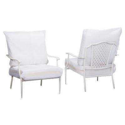 Alveranda Custom Metal Outdoor Lounge Chair (2-Pack) with Cushions Included, Choose Your Own Color
