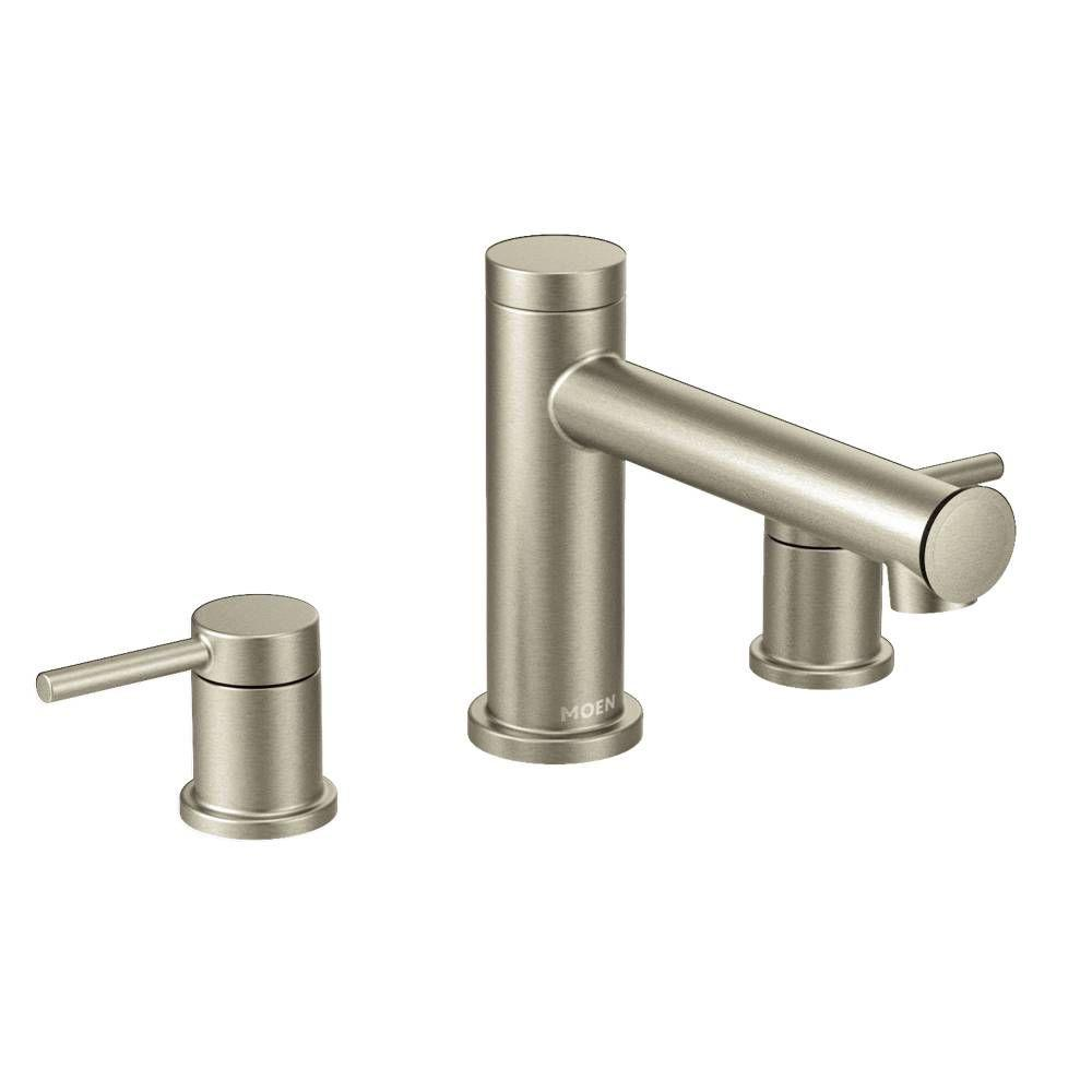 Align 2-Handle Deck Mount Roman Tub Faucet Trim Kit in Brushed