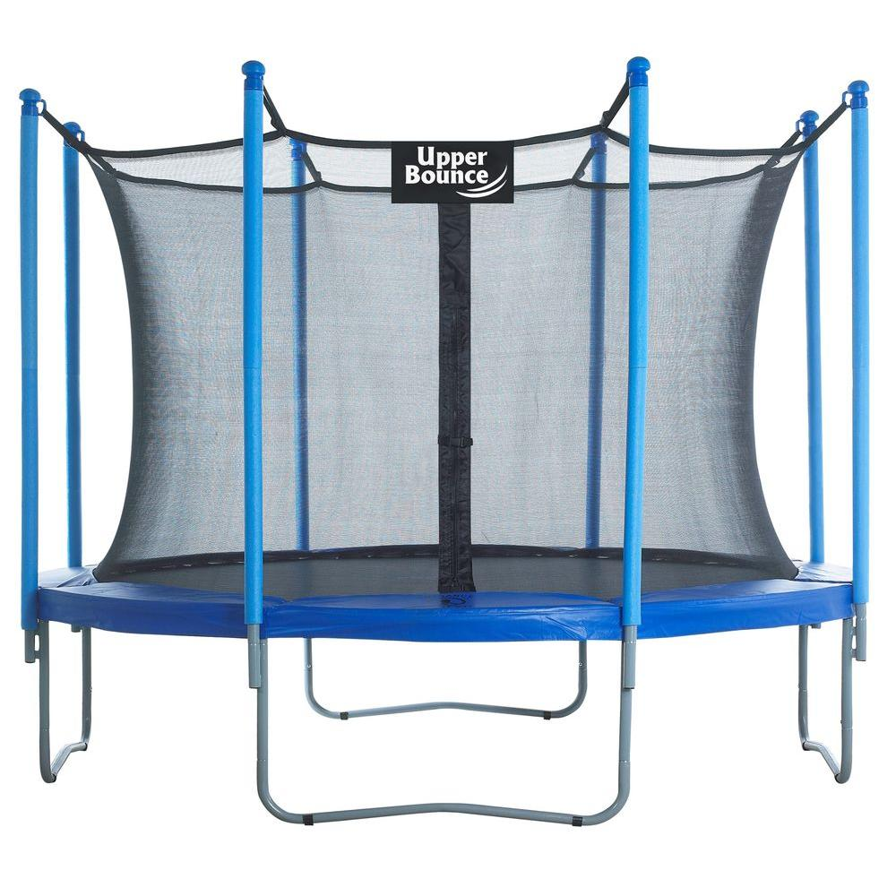 Upper Bounce 10 ft. Trampoline and Enclosure Set Equipped...