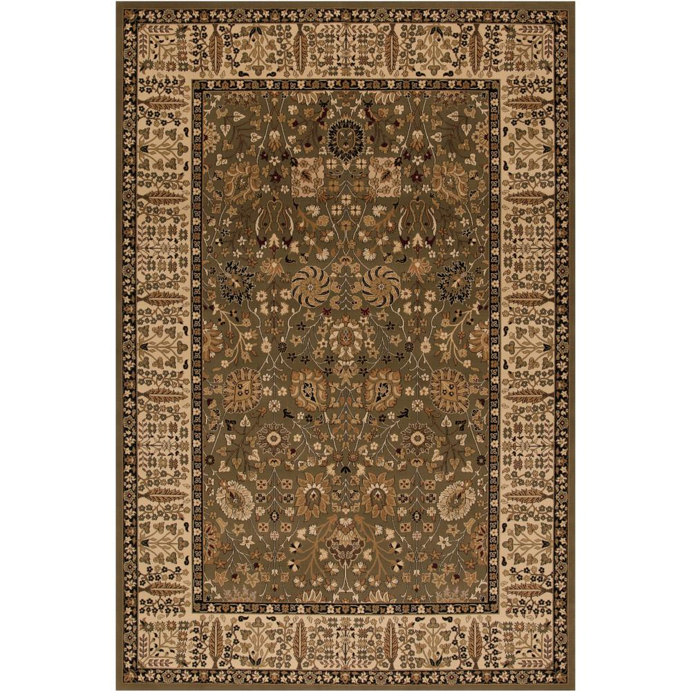 Persian Classics Vase Green 3 ft. 11 in. x 5 ft. 7 in. Area Rug
