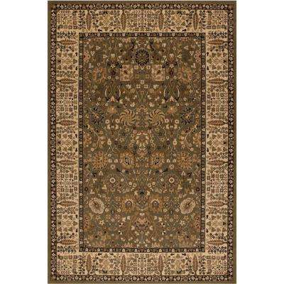 Persian Classic Vase Green Rectangle Indoor 9 ft. 3 in. X 12 ft. 10 in. Area Rug