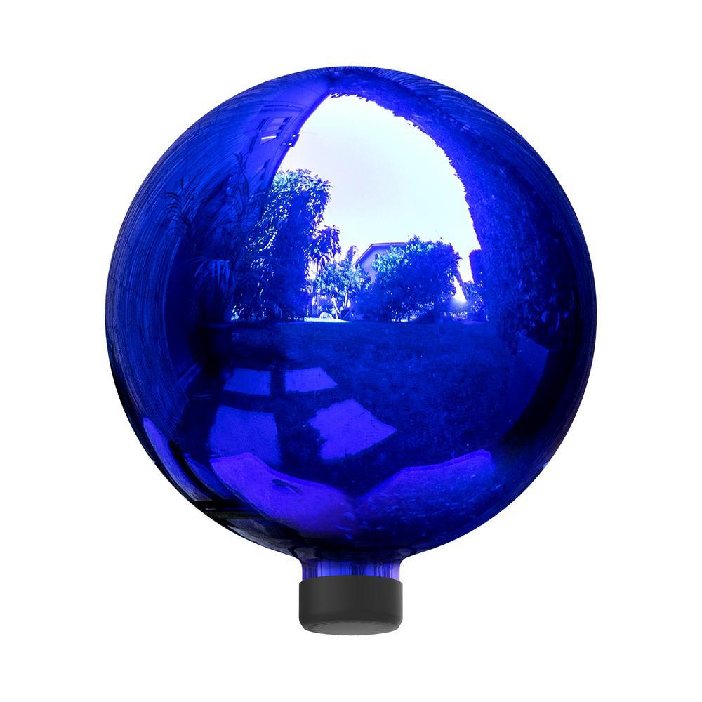 Alpine Corporation Electric Blue Gazing Globe - Glass Sphere with Neck