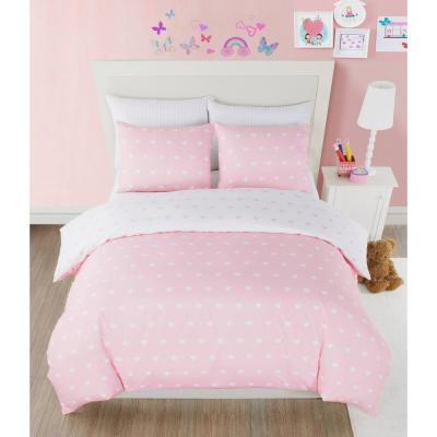 Kelly Heart Full/Queen Pretty Pink Comforter Set