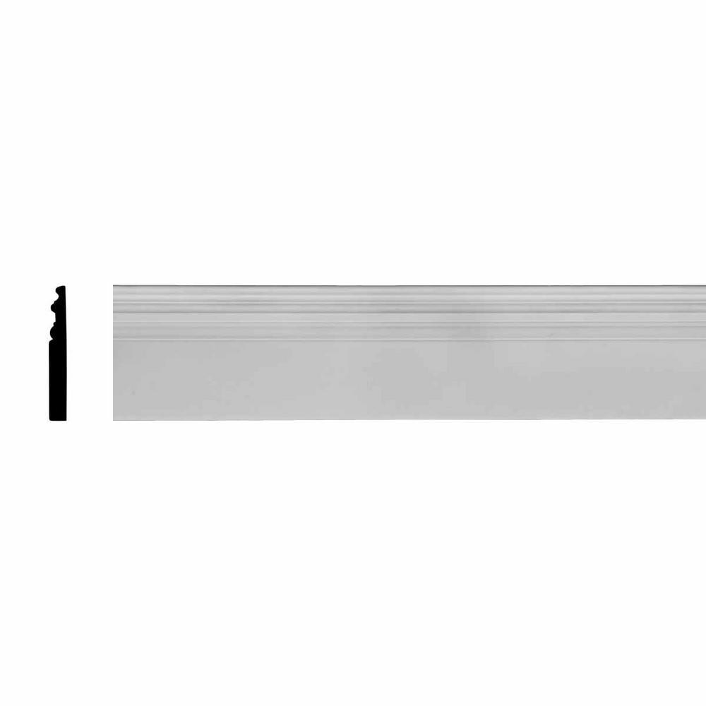 1 in. x 7-3/8 in. x 94-1/2 in. Polyurethane Hillsborough Baseboard Moulding
