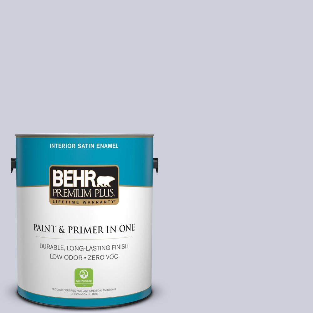 1-gal. #620E-2 Naturally Calm Zero VOC Satin Enamel Interior Paint