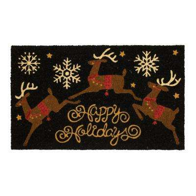 Leaping Holidays 18 in. x 30 in. Coir Door Mat