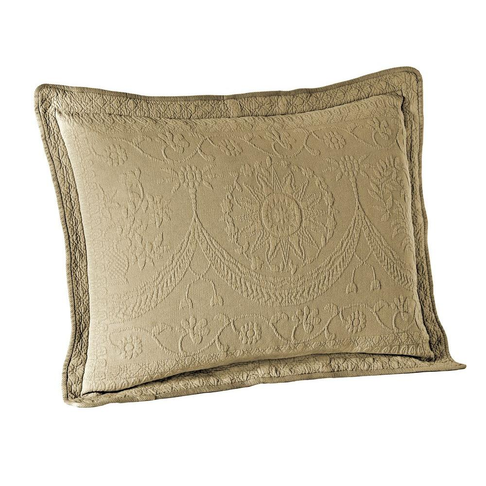 Historic Charleston Collection King Charles Birch Matelasse Cotton Standard Pillow Sham