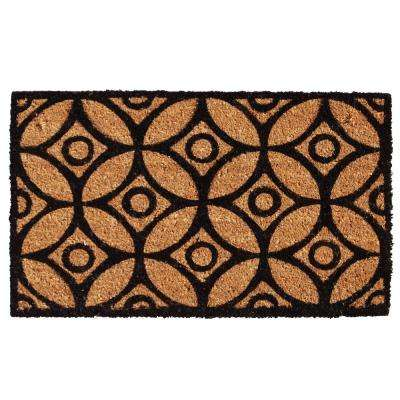 Circles and Stars Door Mat 17 in. x 29 in.