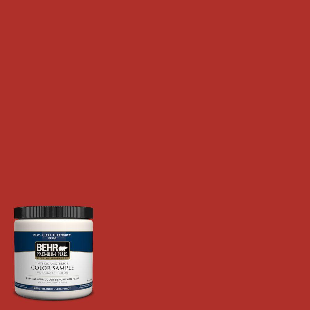 BEHR Premium Plus 8 oz. #PPH-65 Red Passion Interior/Exterior Paint Sample