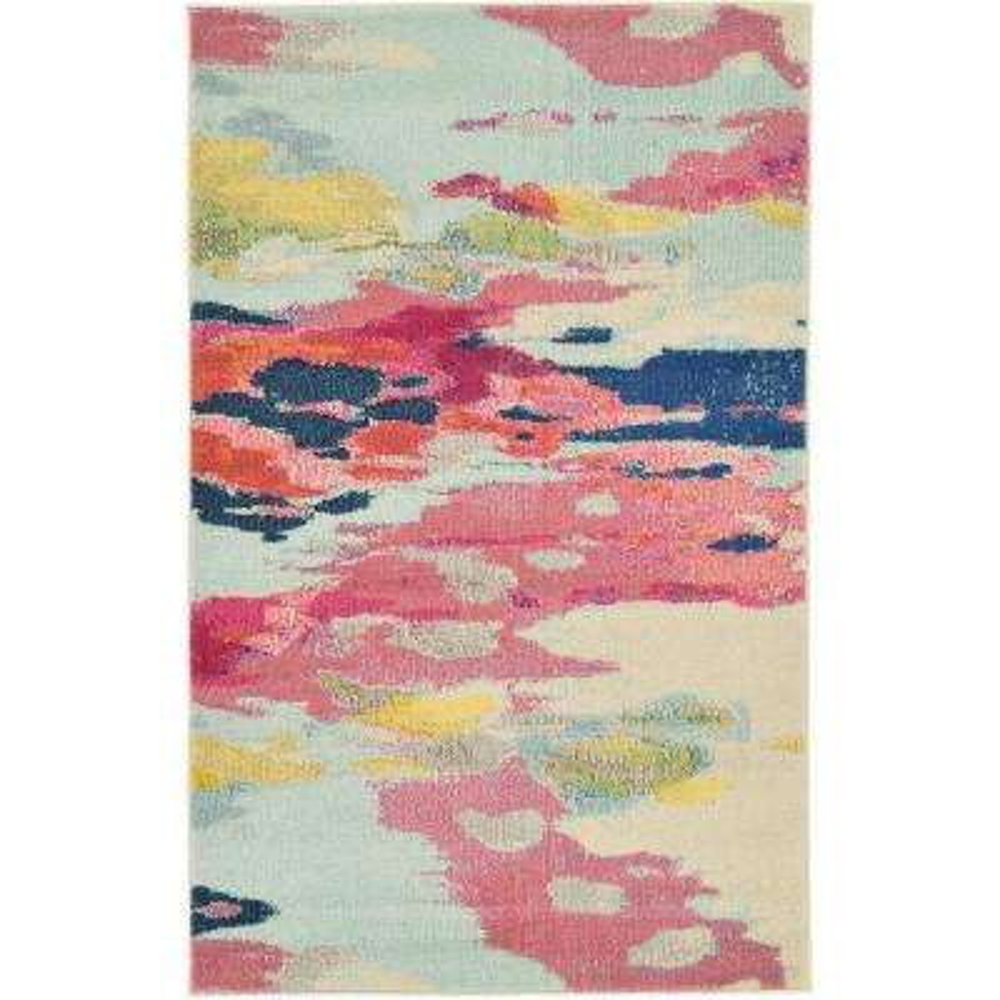 Estrella Laurnell Pink 3' 3 x 5' 3 Area Rug
