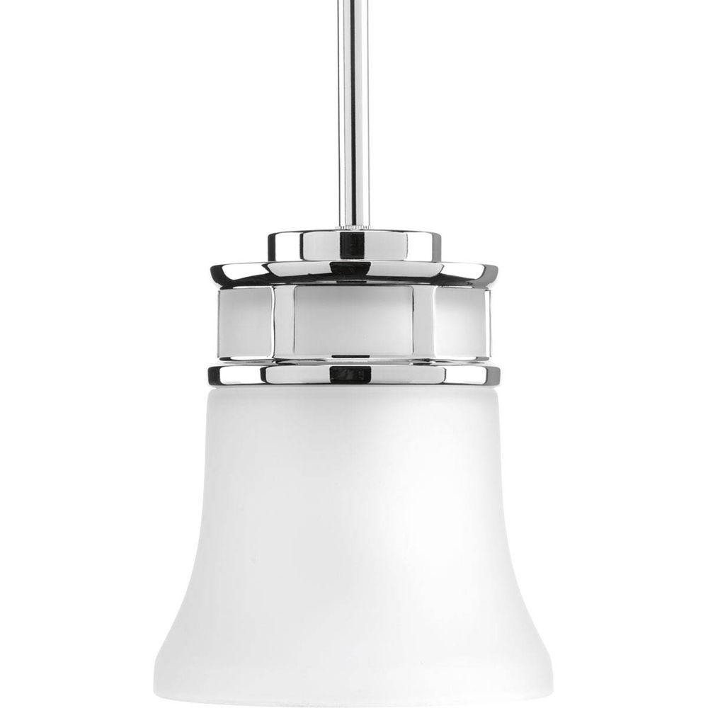 Progress Lighting Cascadia Collection 1 Light Polished Chrome Mini Pendant With Etched Glass P5066 15